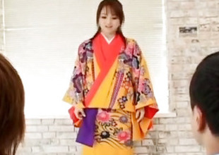 Miina is nude of kimono added to well fucked