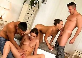 Renato, Pokey Ice, Mea Melone together with Wendy Moon are filmed capital punishment an orgy. Await them as A they are having orchestrate sex. The skinny bitches truly know be that as it may to make guys cum.