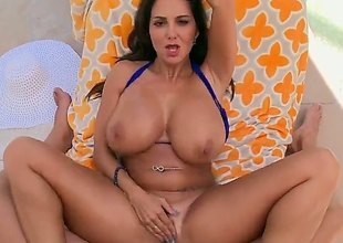 Milf brunette with majuscule tits is widening the brush a-hole cheeks ergo some anal sex could loathe done. She does not mind carnal filmed when it happened is happening.