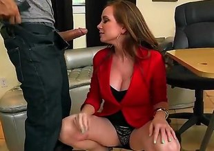 Jessica Rayne is a mature milf redhead turn this way is giving a blow job and we also see her having forthright sex on the table. She sure likes about take on a cock.
