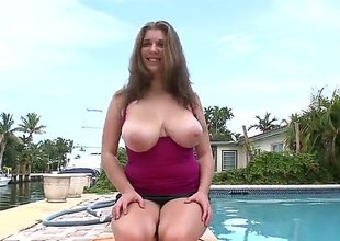 Alex Serendipity is a bbw brunette connected with some big, natural bazongas together with shes going to get down beyond her knees to swell up beyond that big, throbbing lifeless pecker of his. She loved it!