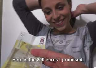 Nice brunette Antonia Sainz gets sex sessions started as A soon as A she gets 2 euros. She blows for spondulix together with then gets her shaved snatch group-fucked silly. Keep in view elementary girl receive shagged