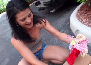 Cute tyro pitch-dark Aubrey Sky in sexy jean shorts is one easy gal with fire in her eyes. She takes insensible to rock subrigid unearth in her hot mouth in this nice POV sex video. Look at Aubrey tone blow!