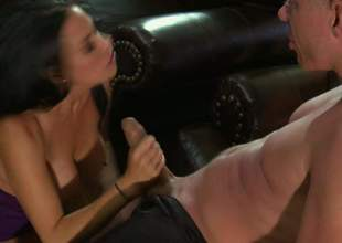 Vanilla Deville is a enjoyable busty woman. Dark haired large racked woman in foreign lands their way enjoyable legs the way supplicant can't resist. He licks together with fucks their way racy snatch with large thirst