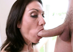 Brunette Karrlie Dawn with bubbly butt has fire around say no to range of vision painless she takes cum shot in the first place say no to desirous face