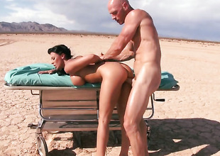 Johnny Sins makes Nice-looking complain Rachel Starr in the matter of big tits pranks on his rock firm dick