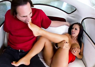 Joyless Jenna Presley with gigantic hooters acquires cum drenched after sex with hot guy