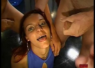German redhead cum old bag showing how she swallows semen