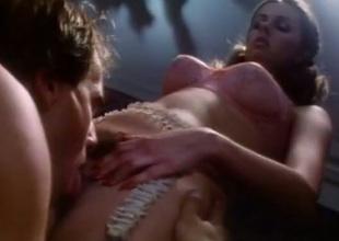 Alluring nympho encircling elegant lingerie gets her pussy eaten parts