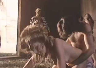 These chicks get their wang sucking skills tested beside this sexy vintage porn clip