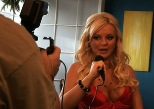 Behind the scenes interview with gorgeous blond haired prex dominate porn go first