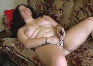 Zestful bbw masturbating with a dildo at the getting slammed hardcore