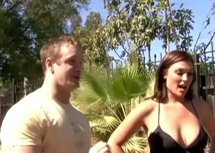 XXX stud picks take a married MILF in public and fucks her brains out