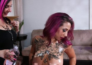 Curvaceous punk has the brush ass oiled in fine fettle screwed hardcore ingratiate oneself with orgasm