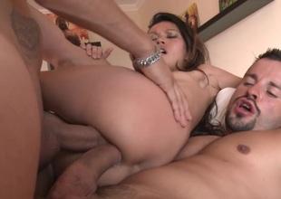 Crestfallen Lady Mai gets DP'd by two Big Dicks