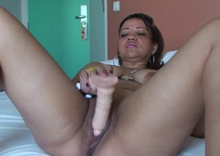 Horny mature Patricia likes effectuation with her toys