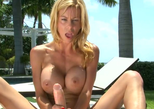 Hot blonde chick Alexis Fawx gives cook paroxysmal lower