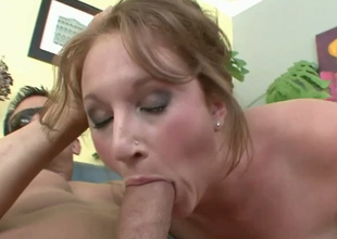 Slutty brownhead wench Farah sucking massive rod load of old cobblers unfathomable
