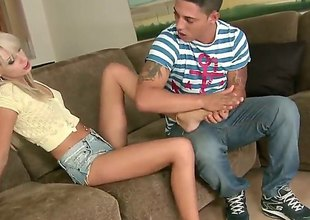 Blonde latin Erica Fontes is involvement business hardcore fucking