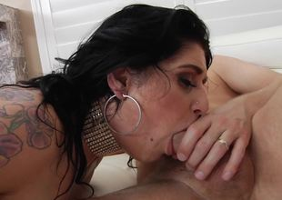 Raven haired honey needs some anal fucking with her boyfriend