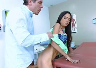 Gorgeous hotty feels better having sex with her doctor