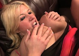 Buxom blonde Zoey Andrews spreads her legs to take every wriggle of a lengthy dick in her cunt