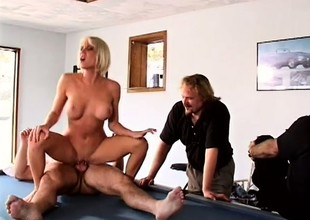 Husband likes to watch his busty blonde tie the knot property fucked at the end of one's tether some other man