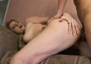 Amiable flesh-peddler is seeking hard dick of her juicy fur pie