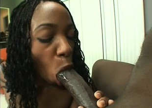 Victuals Pitch-black Chick With A Big Butt Bonks