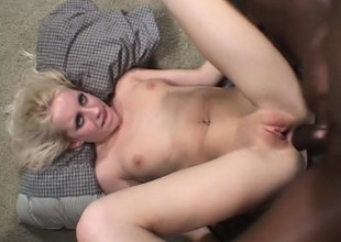 Nasty blonde Want Moore has a group be useful to black studs roughly banging say no to holes