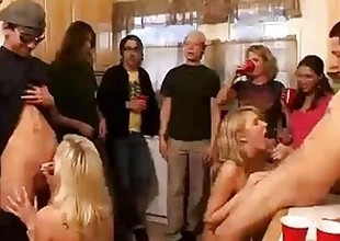 Group of horny college angels start an orgy at one's fingertips a house fillet