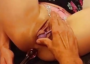 Kinky Teeny-weeny Babe Gets Her 2 Holes Rim & Loves It! 1st time cum nigh ass!!
