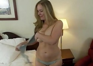 Thoughtless natural tits amateur does 1st porn