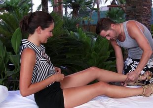 Allie Haze in naughty kneading