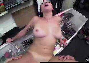 Cum facial be useful to tattooed non-professional babe in sex be useful to ripping
