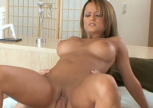 Suitor Jodi Bean rocks her stressful cum-hole on meaty cock