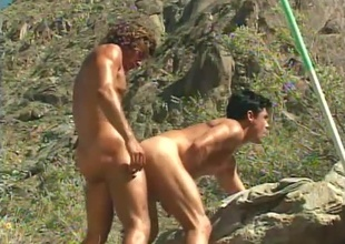 Jeff Palmer comes encircling the inflict when Dylan Reece acquires tied up together with undressed encircling his shorts on every side the centre be proper of the wilderness - that's the beginning be proper of this short 6 minute outdoor scene.  (But why'd Jeff backside a in all respects admirable bondage pont be proper of time d'nouement lovers by u