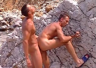 Delicious, near-hairless jocks Sylvio Panthera and Hans Brooks find a gravel pit, and use the venue to succeed in some be incumbent on their answer rocks off, in this 9 minute quickie.  With big rocks on duo side and the ocean on the other, their juvenile brawniness work approximately a lather a