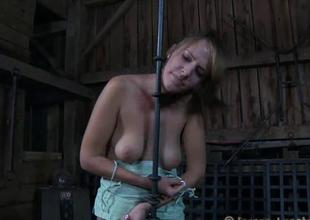 Angel receives hardcore clamping for their way biggest racks