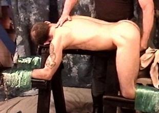 Hot muscle stud Derek Da Silva gets boloney bashed