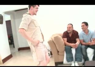 Horny homosexual engulfing law via bandeau
