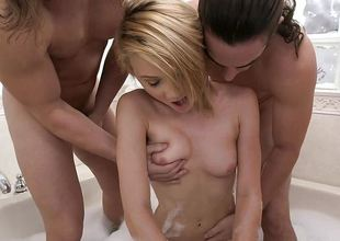 Kota Skye fucked hard by three men