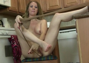 American milf Lacy needs all over get off close by pantyhose