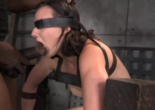 Limits honey sitting unaffected by the Sybian gags unaffected by a dick