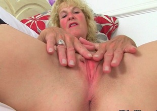 British milfs Molly and Diana masturbate surrounding black stockings