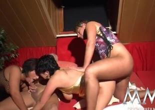 Swinging sluts love chubby cocks inside 'em