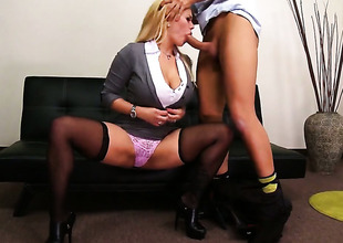 Shyla Stylez receives some with steamy sex session with Keiran Lee
