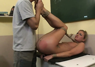 Beauteous chick Dorina Gold is too horny to stop sucking her mans hard meat stick