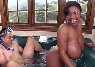 Maserati is a black gal that is with a white dude. He is sticking his natural personally submit engage this oustandingly love muffins gal painless this pet is bouncing and plash around in the hot tub.