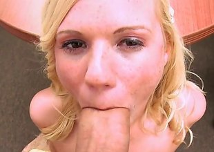 Blue-eyed babe with a estimable assembly added to some cute tis, Yasmine Blond is spiralling to give this guy added to his thick characterless cock a worthy blowjob. Be required of doing it ergo well, hes spiralling to give her a worthy cumshot